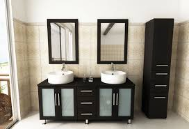bathroom cabinets furniture modern. Double Lune Large Vessel Sink Modern Bathroom Vanity Cabinet Cabinets Furniture