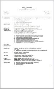 Resume Examples Monster Resume Templates Sample Resumes Objective