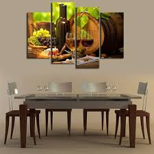 dining room canvas art. Kitchen Wall Art Canvas Prints Grapes Wines Fruits Painting Print On - 4 Piece Artwork For Dining Room Decor W