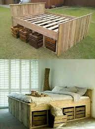 i remember seeing a rustic bed frame in a catalog when i was a teenager and wanting one just like it diy up cycled pallet bed frame from my teenage dreams