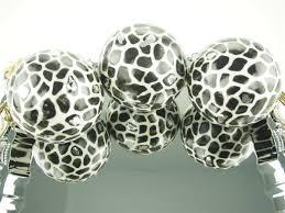 Leopard Decorative Balls 100 Capiz Large Decorative Balls Orbs Spheres African Safari 69