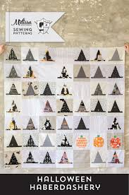 Introducing the Halloween Haberdashery Quilt Pattern - The Polka ... & The Halloween Haberdashery Quilt; a fun Halloween sewing and quilting  project featuring rows of Witch's Adamdwight.com