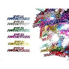 Aptafetes - Confettis de table joyeux anniversaire (14 gr): Amazon ...