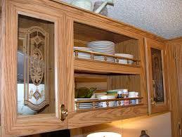Kitchen Cabinet Inserts Furniture Diy Update Your Kitchen With Fabric Cabinet Door Inserts
