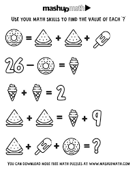 You can use our amazing online tool to color and edit the following coloring pages for fourth graders. Free Math Coloring Worksheets For 3rd And 4th Grade Mashup Math