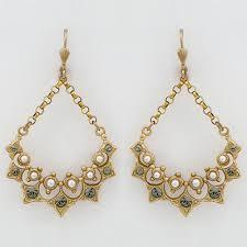 vintage chandelier earrings la vie parisienne vintage chandelier earrings with pearls vintage