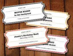 microsoft word birthday coupon template printable coupons tickets vouchers movie night colors