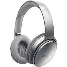 bose noise cancelling headphones wireless. bose quietcomfort 35 bluetooth wireless over\u2011ear headphones-silver | audio46 noise cancelling headphones e