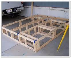 appealing king size platform bed plans with diy king size bed frame with storage diy projects