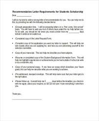 Scholarship Letter Of Recommendation Templates Letter Of Recommendation For Scholarship Template Elegant