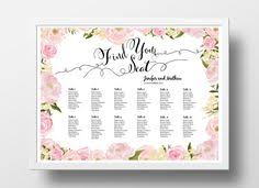 How To Make A Seating Chart Poster Diy Wedding Seating Chart Poster Templates