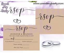 Wedding Rsvp Cards Template Wedding Response Postcards