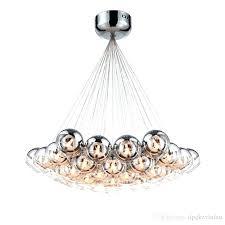 glass ball light fixture modern chrome glass led pendant chandelier light for living dining study