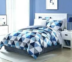 geometric comforter set bedding sets light dark blue white grey 8 piece design b