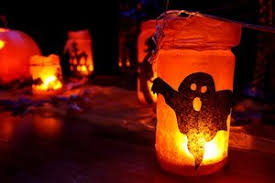 diy halloween lighting. If You Have A Few Mason Jars Lying Around, Create Your Very Own Ghostly Indoor Lanterns With Jar, Tissue Paper (black And Orange), Glue, Scissors, Diy Halloween Lighting