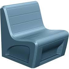 sabre armless chair slate blue