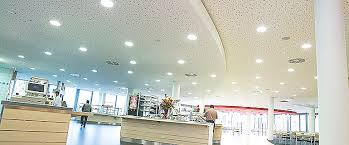 plasterboard climate control ceiling with a perforated surface