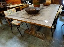 trestle base wooden dining table denver furniture
