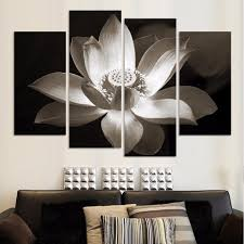 white lotus wall art