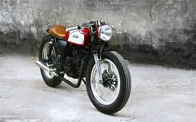 suzuki gn125 red caferacer by duong doan