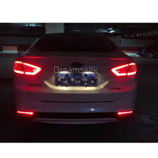 Ford Fusion Lights Us 37 49 25 Off Rear Bumper Tail Light For Ford Fusion Mondeo 2013 2014 2015 2016 Red Led Reflector Brake Lamp Parking Warning Lamp In Car Light