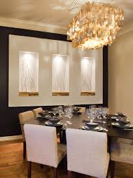 modern dining room decorating ideas. Dining Room:Modern Room Wall Decor Ideas With Crystal Chandelier, Black Table, Modern Decorating