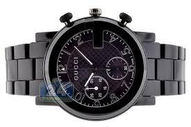 gucci g chrono black ceramic mens watch ya101352 next