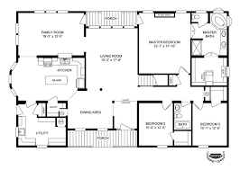 Triple Wide Mobile Home Floor Plans  Russell From Clayton Homes Floor Plan Homes