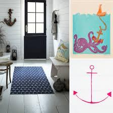 anchor bathroom decor. anchor bathroom decor nautical yellow chevron shower curtain r