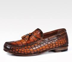 handcrafted alligator classic tassel loafer leather lined shoes for men