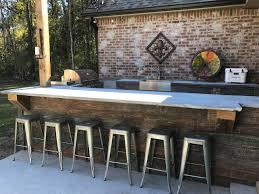 Rustic Outdoor Kitchen Design Using Reclaimed Barn Board Shiplap Panels