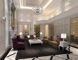 Luxury living room with high ceilings and a marble floor #marble #floor  #home