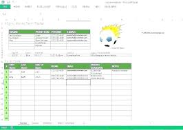 Free Roster Template Weekly Excel School Canteen Membership