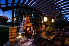 custom landscape lighting ideas. Custom Landscape Lighting Ideas. Outdoor Fireplace | Connection Installation In Denver Ideas D