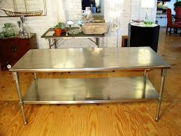 metal kitchen table. Surprising Metal Kitchen Island 22 Oak Table Stainless Stools Dinner Expandable Pedestal Dining Room