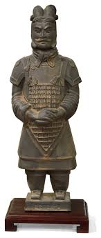 chinese terracotta solr statue