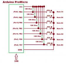 atmega u based usb musical keyboard engineersgarage atmega 32u4 based usb musical keyboard circuit diagram
