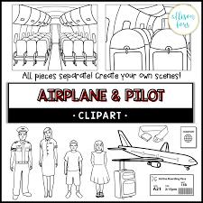 Community Helpers: Airplane & Pilot Clip Art