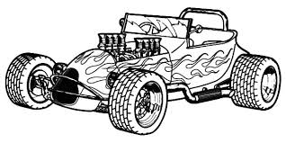 Small Picture Naked Hood Hot Rod Cars Coloring Pages Kids Play Color