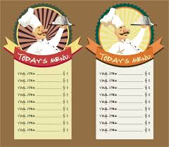family menu template family restaurant menu template