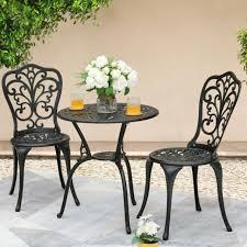 01 aluminum outdoor patio bistro set
