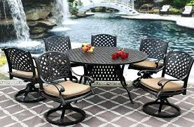 cast aluminum outdoor patio set inch round dining table 60 wrought iron tables sets