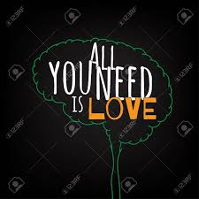 All You Need Is Love Motivation Clever Ideas In The Brain Poster