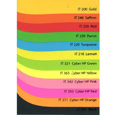 Red Colour Chart Paper 18 Sinar Spectra A4 80gsm Colour Paper Colour Paper Chart
