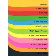 18 Sinar Spectra A4 80gsm Colour Paper Colour Paper Chart