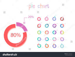 Set Of Circle Percentage Flow Diagrams Pie Chart For Your