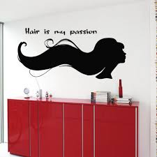 hair salon wall decals woman hair is my passion wall words hairdressing beauty salon wall decor