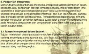 Definisi/arti kata 'interpretasi' di kamus besar bahasa indonesia (kbbi) adalah n pemberian kesan, pendapat, atau pandangan teoretis terhadap sesuatu; Pengertian Interpretasi Dan Pengertian Interpretasi Dalam Aneka Macam Bidang 6 Kumpulan Materi Soal Dan Jawaban Belajar Online