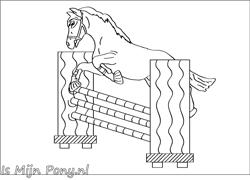 Kleurplaat Springpaardkleinpng Paardenzijntop