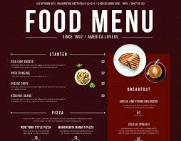 Food Menu Design 32 Beautiful Restaurant Menu Designs Psd Eps Ai Free
